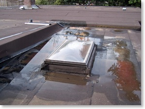 pooling water on roof - we find the source of the problem