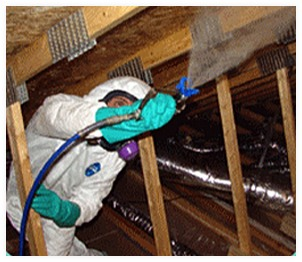 oxidative treatment in an attic